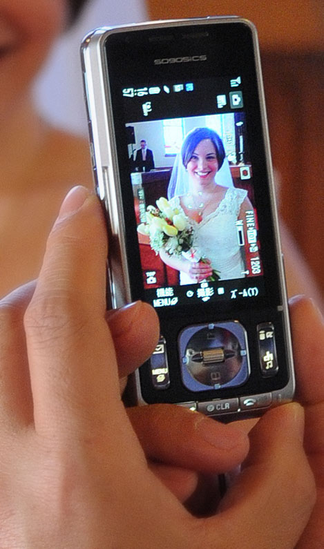 Wedding Image by a camera phone
