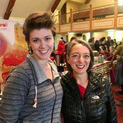 Local Artisan Kasey Dunn & Toronto-Danforth MP Julie Dabrusin at this year's Christmas Pop Up