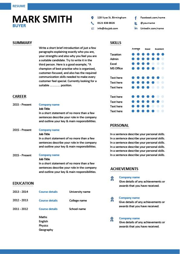 Buyer Resume Sample Template Example Job Description