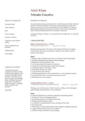 Profiles Resume Examples Sales