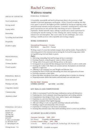 Hospitality CV Templates Free Downloadable Hotel Receptionist Corporate Hospitality CV Writing