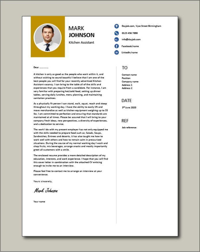 Kitchen Assistant Cover Letter Covering Letter Tips Format Layout Recruitment Process Vacancy