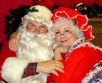 Modern Santa with Mrs. Claus