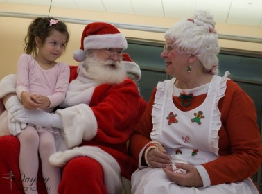 Talking with Santa & Mrs. Claus