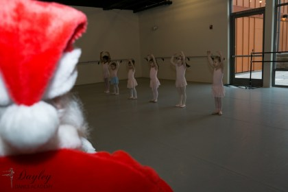 Dance class with Santa today...