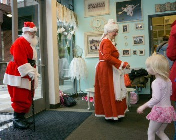 Santa making his annual visit to Dayley Dance Academy