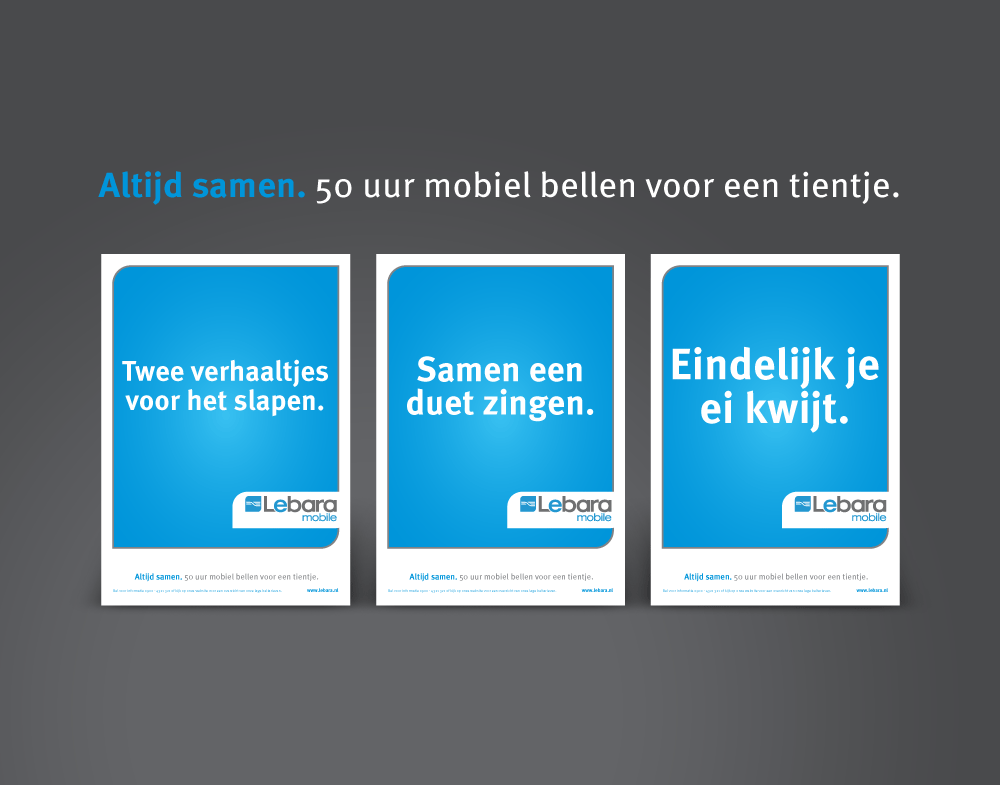 Lebara mobile advertentie concepten