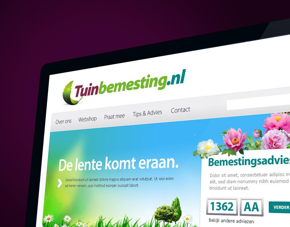 Homepage design voor webshop voor Tuinverzorging - 2019 © Daylinq