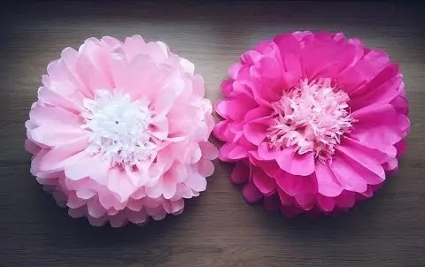 DIY Big paper flowers