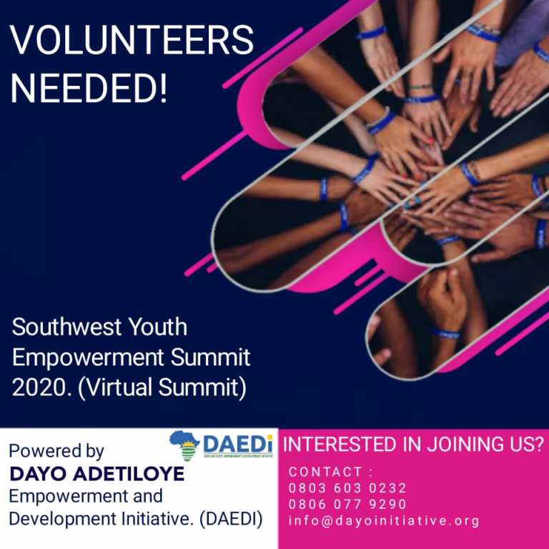 Call for Volunteers for 2020 SouthWest Youth Empowerment Summit.
