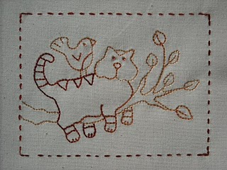 Cute kitty stitchery