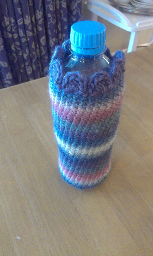 Crochet water bottle cover