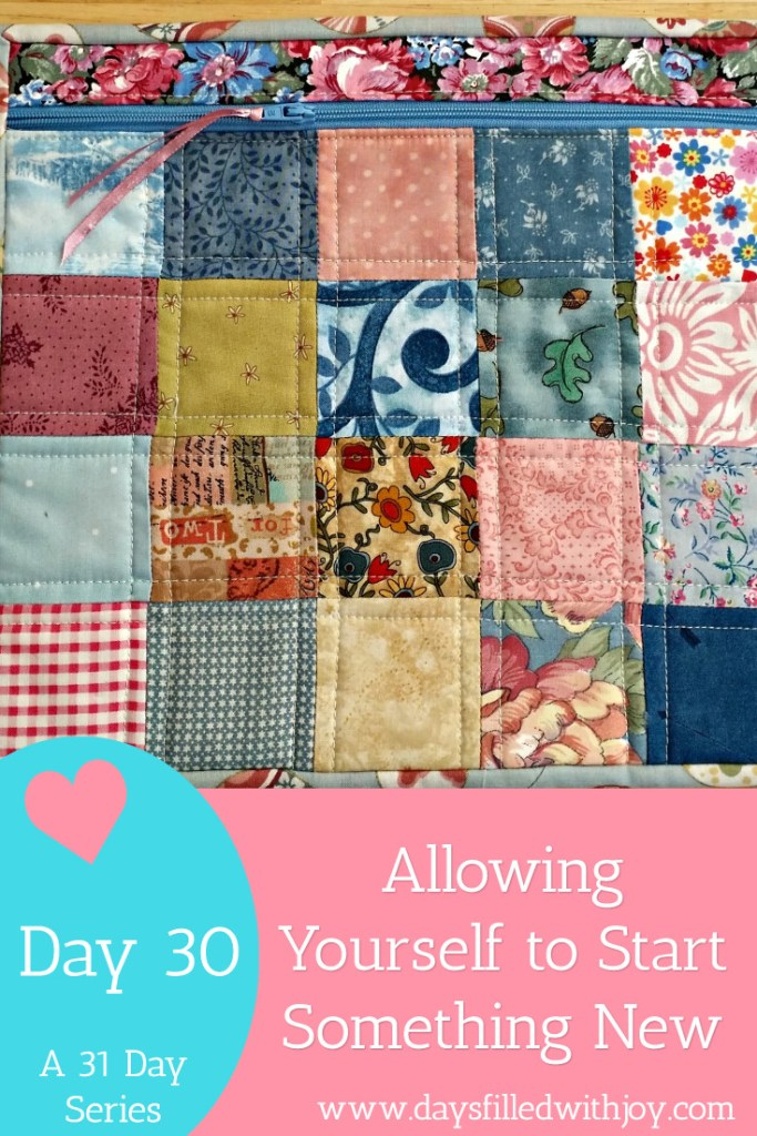 Allowing yourself to start a new quilt project