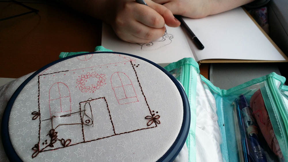 Gingerbread House Stitchery