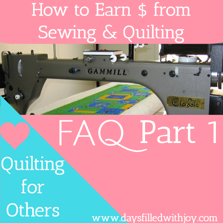 FAQ about Quilting for Others Part 1