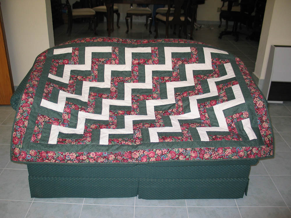 Fence Rail quilt Teaching Beginners to Sew and Quilt