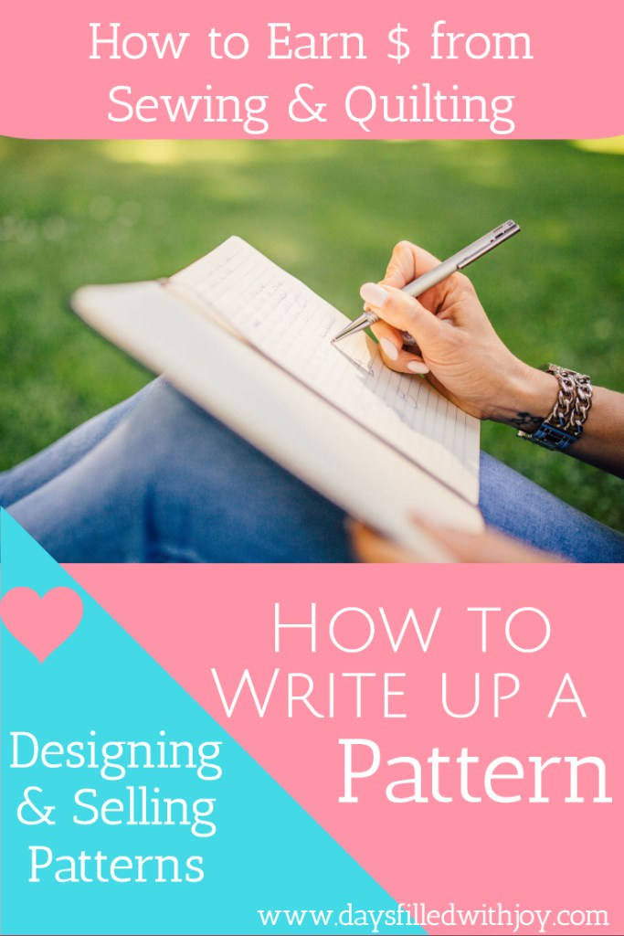 How to write up a pattern