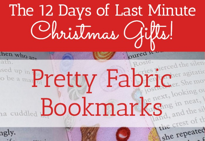 Pretty Fabric Bookmarks