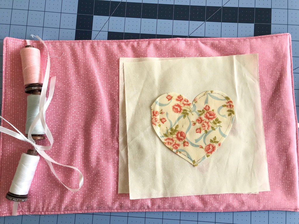Needle turn applique roll up block keeper days filled with joy