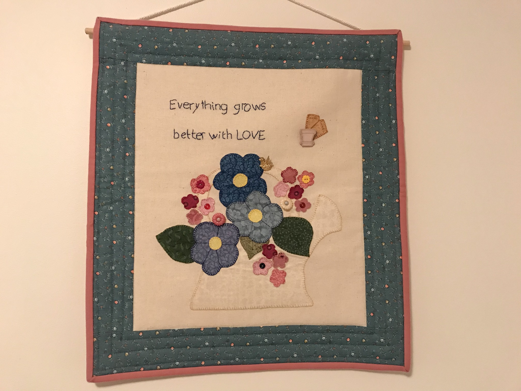 Cute Applique Wall Hanging