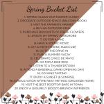 My Spring Bucket List Days Like Today