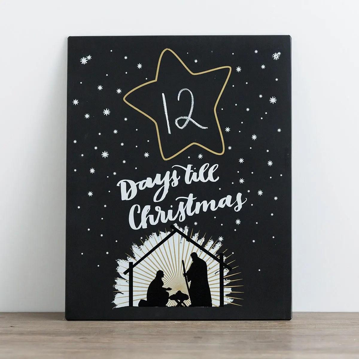 Days till Christmas - Nativity Countdown Plaque