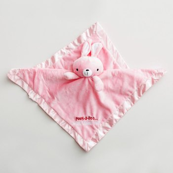 Jesus Loves You Pink Rabbit Security Baby Blanket