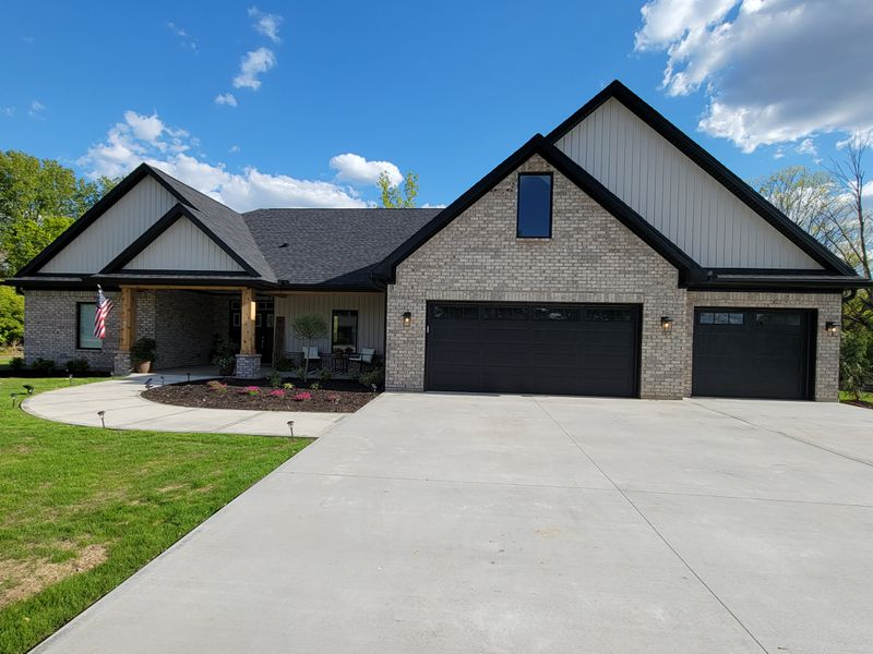 """The Zurn family home in Vandalia. The home was built for the family and donated by """"Operation Finally Home"""" a nonprofit organization that provides mortgage free homes for injured military veterans. CONTRIBUTED"""