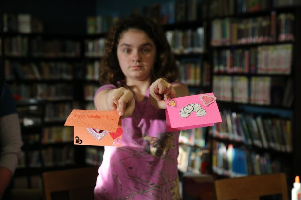 Valentines card making - Children's Library