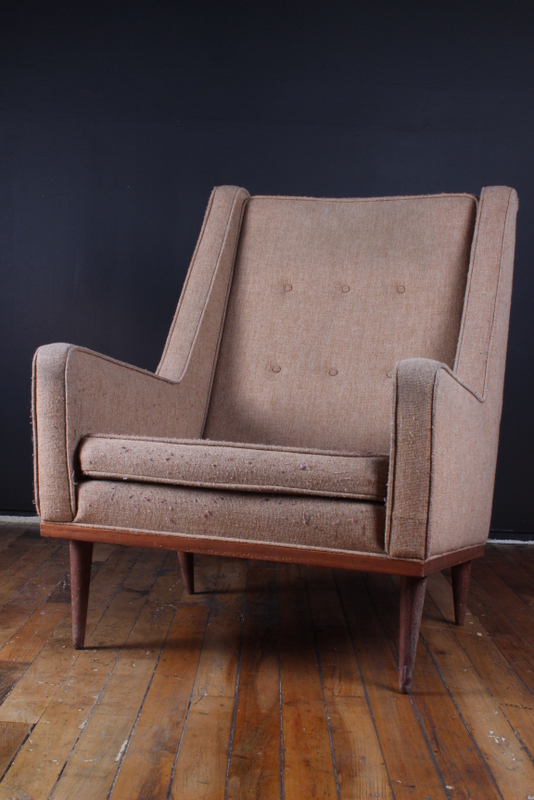 Tan Broadcloth Chair