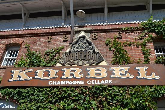 Korbel Champagnes was just down the road