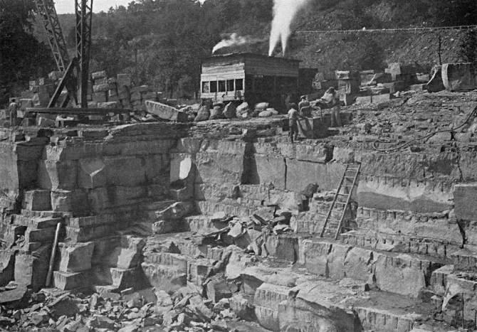 Gilboa as a working limestone quarry
