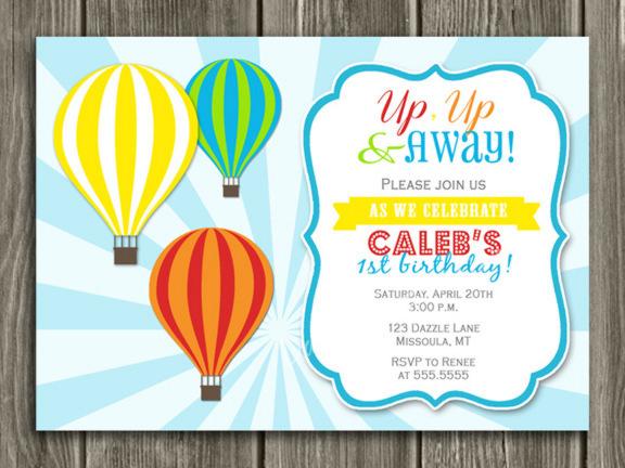 Hot Air Balloons Invitation Free Download Vector Psd And Stock Image
