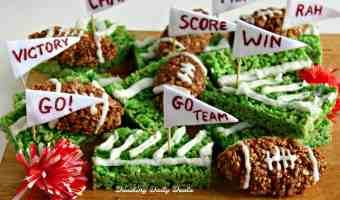 Easy Game Day Football Field Krispy Treats