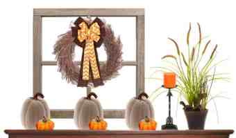 Easy Fall Mantle Decor For A Tight Budget