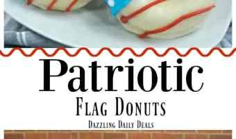 Fun And Easy Patriotic Flag Donut