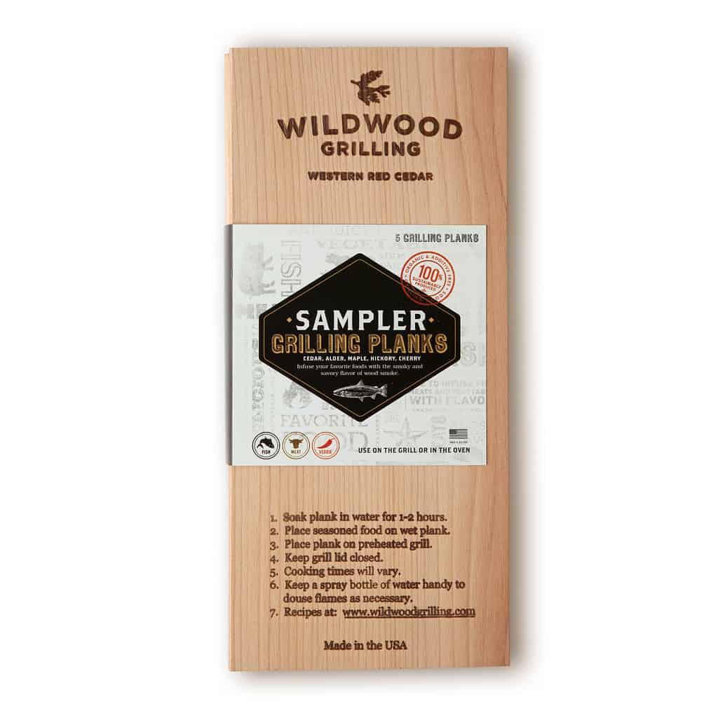 Grilling Planks Sampler Pack: 5 Wood Flavors