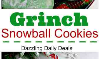 Easy Grinch Snowball Cookies