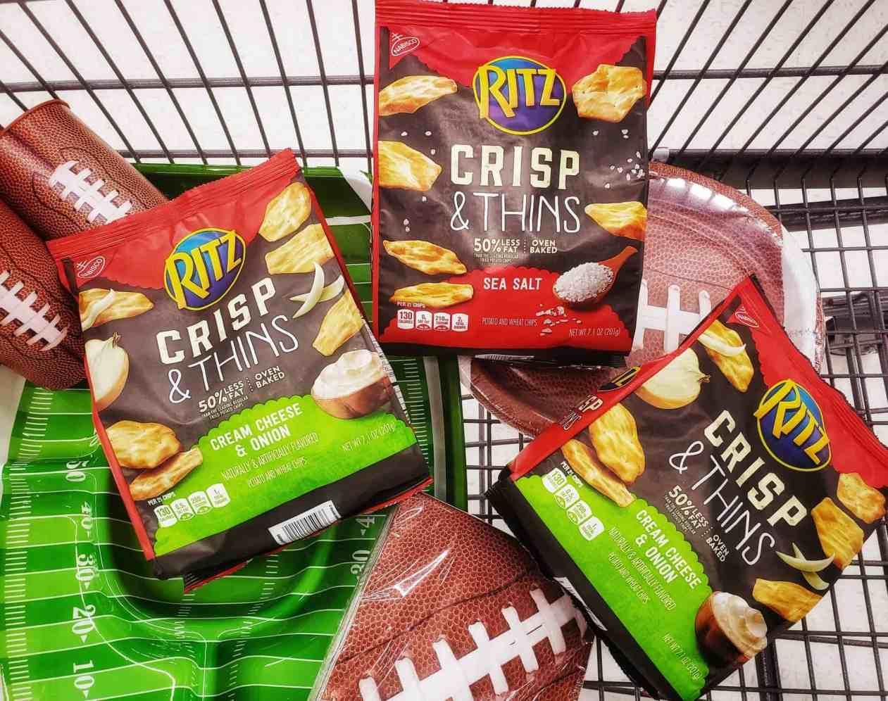 HOT Game Day SAVING on RITZ Crisp & Thins at Walmart - PLUS