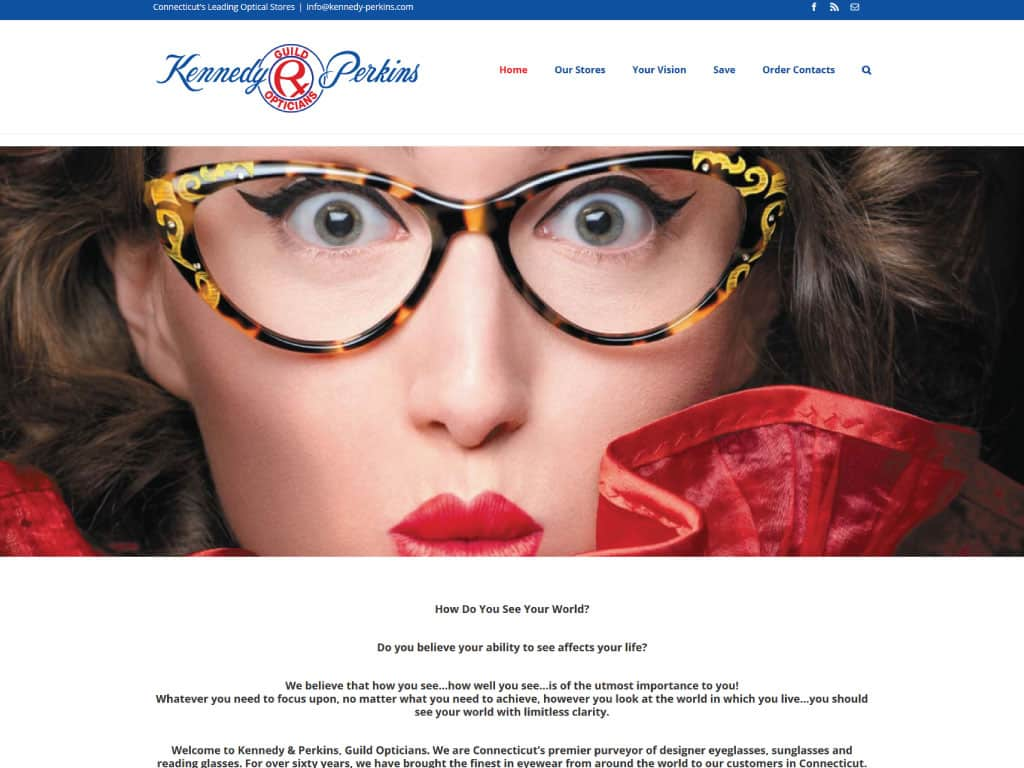 Kennedy & Perkins website by dba designs & communications - Denver, CO