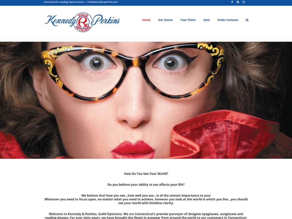 Kennedy & Perkins website by dba designs & communications - Denver, CO