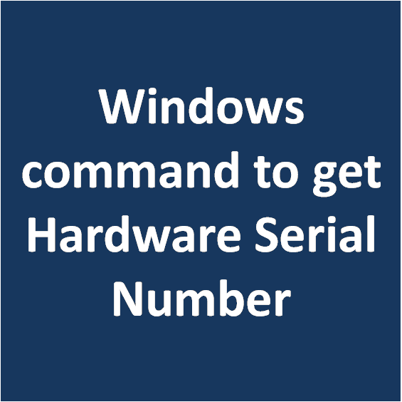 wmic command for hdd serial number