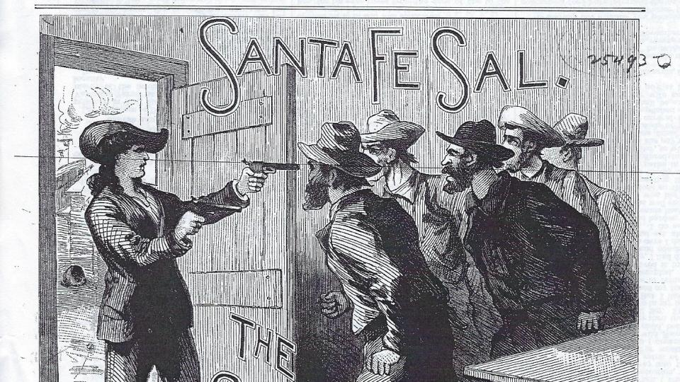 Cover illustration for SANTA FE SAL