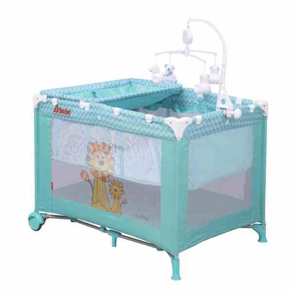Dbebe Corral Cuna viajera Zoo Baby azul