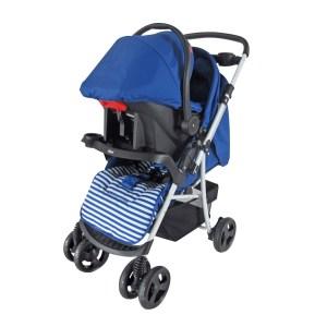 Dbebe carriola stripes con portable azul