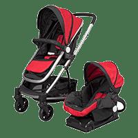 D'bebé carriola travel system crown roja