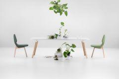 Oblique kolekcija, Prostoria, dizajn: Numen / For Use, stolica od 1911 kn, stol 8298 kn