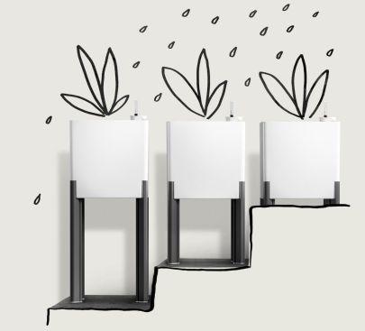 tegle za cvijeće Mondum, dizajn Zoran Jedrejčić