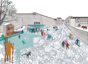 Infrastructure - Rodeo architects + Lala Tøyen - Action Plan for increased city life, Strategy for a car free Oslo, Oslo, Norway / Rodeo arkitekter