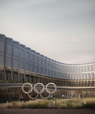 Office WINNER - 3XN Architects - Olympic House - International Olympic Comittee HQ, Lausanne, Switzerland / Designboom